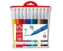 Fancolor Fibre-Tipped Pen Maxi Assort. 10 Plastic Wallet   |  195.710