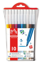 Fancolor Fibre-Tipped Pen Assort. 10 Plastic Wallet  |  285.710