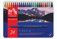 Fibralo Fibre-Tipped Pen Assort. 24 Box Metal   |  185.324