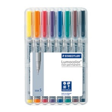 Staedtler Lumocolor Non Permanent Superfine - Box of 8 Colour (0.4mm)