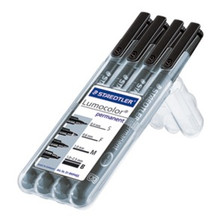 Staedtler Lumocolor Permanent Assorted Sizes - Box of 4