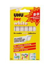 UHU Tac Reusable White Adhesive - 80 Pieces