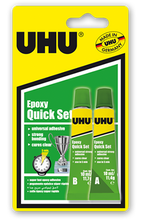 UHU Epoxy Quick Set Glue  - 2 x 10ml