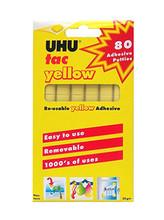 UHU Tac Reusable Yellow Adhesive - 80 Pieces