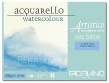Fabriano Watercolour 200GSM Cold Pressed Block - 23 x 30.5cm