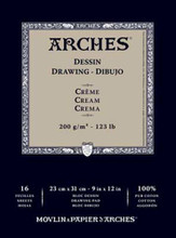 Arches Dessin Drawing Pad Cream 200GSM - 23cm x 31cm