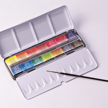 Sennelier Watercolour Metal Box - 14 Full Pans + 1 Brush