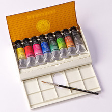 Sennelier Watercolour Travel Box - 8 Tubes + 1 Brush