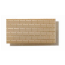 Textured Polystyrene Sheet, Through-Stamped, Large Olive-Grey Brickwork - 1:50