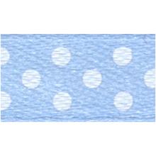 Polka-Dot Satin Ribbon - Light Blue with White Dots