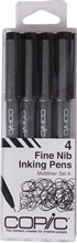 Copic Multiliner Set 4 Black 0.03 0.05 0.1 0.3