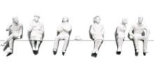 Preiser Unpainted Detailed Sitting Figures - 1:200