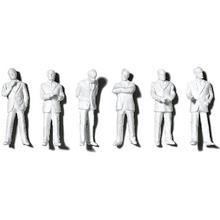 Preiser Unpainted Detailed Standing Figures (Businessmen) - 1:100