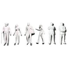 Preiser Unpainted Detailed Various Figures (Standing, Walking, Businessmen) - 1:200