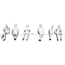 Preiser Unpainted Detailed Sitting Figures - 1:100