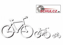 White Polystyrene Bicycles - 1:50