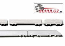 Polystyrene Trains White - 1:500