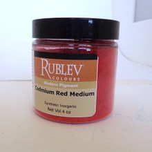 Rublev Colours Dry Pigments 100g - S8 Cadmium Red Medium