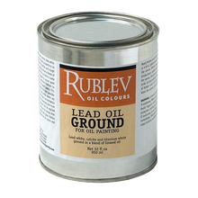 Rublev Oil Medium Lead Oil Ground (Quart) 32 Fl Oz | 510-8LWG32
