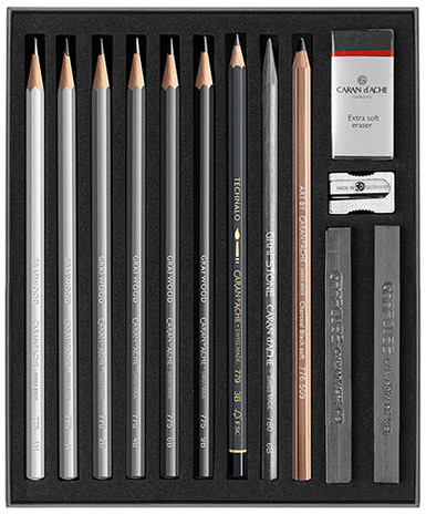 Art by Caran D'Ache Sketching Set | 776.714 - Open