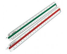 Rumold 30cm White Plastic Ruler DIN