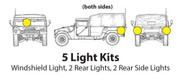 Five lights on your truck help other motorists see where you are...safety first!