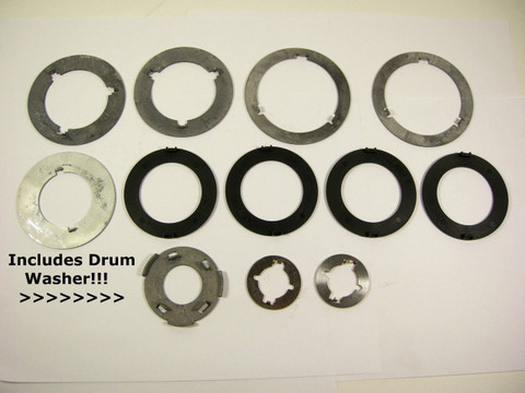 1964-69 C4 Thrust Washer Kit w/ Selectives & FORWARD DRUM WASHER