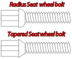 M12 Black Longer Wheel Bolts For Wheel Spacers (Radius Seat)