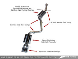 AWE Tuning A4 B8.5 2.0TFSI Touring Edition Exhaust