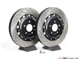 ECS Tuning - Front Cross-Drilled & Slotted 2-Piece Brake Discs 1