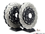 ECS Tuning - Front Wave Cross-Drilled & Slotted 2-Piece Brake Discs