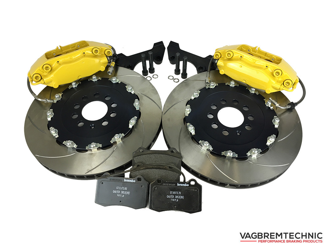 Vagbremtechnic Front Brake Kit 4 Piston Brembo Caliper