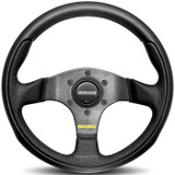 MOMO - Team - Black Leather Steering wheel