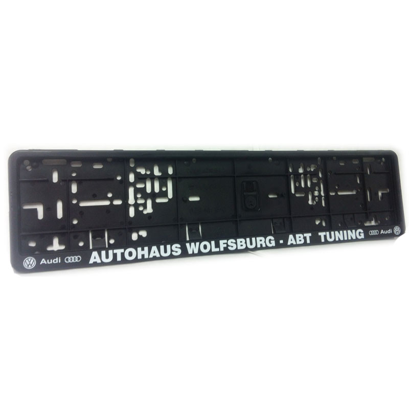 autohaus wolfsburg abt number plate surround awesome. Black Bedroom Furniture Sets. Home Design Ideas