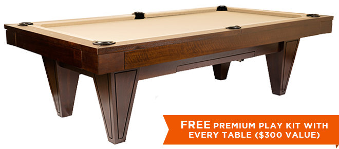 Marietta Black Pool Table