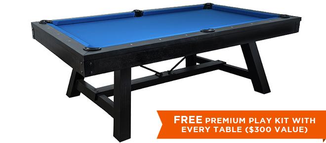 Marietta Black Pool Table
