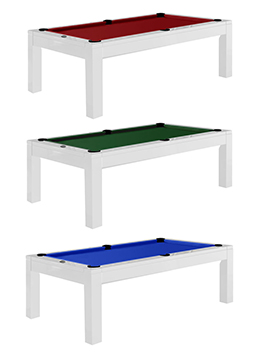 Aragon 7 Foot Dining Pool Table White