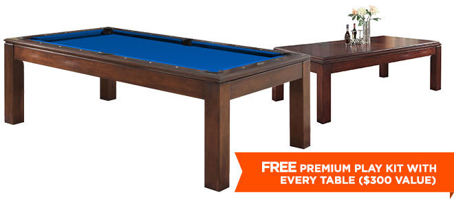 Albany Foot Dining Pool Table Antique Brown - 7 foot dining pool table