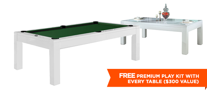 Aragon Foot Dining Pool Table White - 7 foot pool table dining top