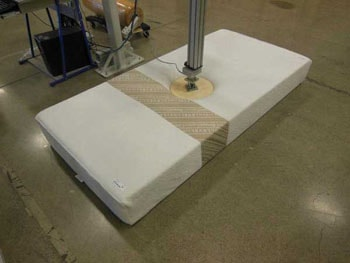 Testing the durability of the TriSupport mattress to last for many years.