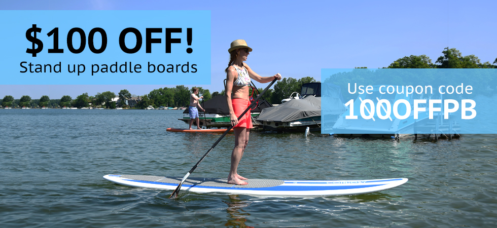 $100 off Paddle Boards