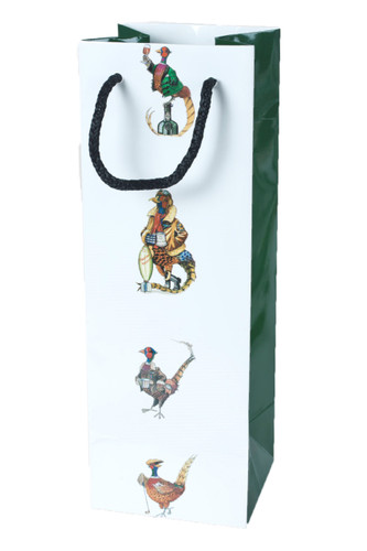 A single bottle gift bag featuring a Pheasant.