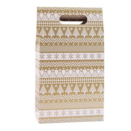 2 Bottle Wine Gift Box Christmas Jumper Design