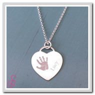 Tiffany-style Necklace - Single Hand or Foot Print