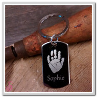 Single Handprint Keychain
