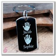Double Hand or Footprint Keychain