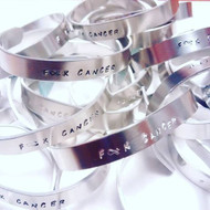 F * K Cancer Aluminum cuff