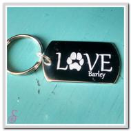 Love Pawprint Keychain