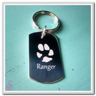 Single Pawprint Keychain