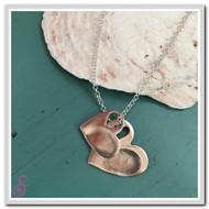 Double Heart-in-Heart Fingerprint Necklace